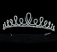 Teardrop Tiara Bridal Wedding Crown Pave AAA CZ Hair Accessories Jewelry Pageant HeadpieceImitation Diamond Birthstone