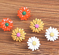 Korean Version Of The Cute Little Daisy Gerbera Daisy Earrings  (random color)