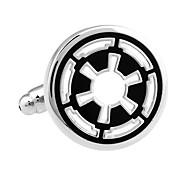 Star Wars The Old Republic emblem round rudder French shirt cufflinks cuff nail