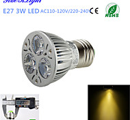 YouOKLight® 1PCS E27 3W 300lm 3000K Warm White  Light 3-High Power LED Spotlight (AC110-120V/220-240V)