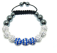 Crystal Jewelry Bracelet For Women New Crystal Bracelets Micro Pave CZ Disco Ball 10mm Bead Crystal Bracelet BL-166