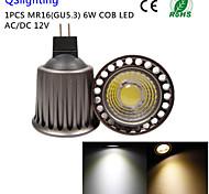 Faretti 1 COB QSlighting R63 GU5.3(MR16) 6 W Decorativo 500 LM Bianco caldo / Luce fredda 1 pezzo DC 12 / AC 12 V