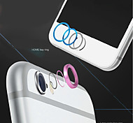 High quality Metal Home button Cover Ring Protector Circle + Aluminum Alloy Camera Lens Cover Guard for IPHONE 6/6S Plus