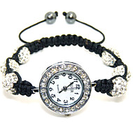 Fashion Jewelry 10MM Austrian Rhinestone Beaded DIY Bracelet Strand Beads Bracelet+watch charms Black Bile Magnet Care
