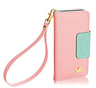 DF® Colorful Little Bird PU Leather Full Body Case with Strap for iPhone 5C(Assorted Colors)