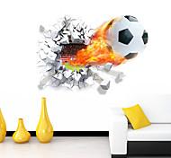 Мультипликация Романтика Спорт 3D Наклейки 3D наклейки Декоративные наклейки на стены,Винил материал Съемная Украшение домаНаклейка на