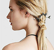 Women Fashion Retro Metal Arrow Stars Pattern Dish Hair Hairpin Hair Accessories Jewelry 1pc