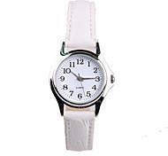 Authentic Minimalist White Leather Ladies Watch