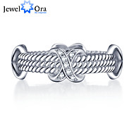 """Fashion """"X"""" Accessories 925-Sterling-Silver White Cubic Zirconia Rings For Women&Lady"""