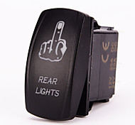Iztoss 5pin Laser FINGER REAR LIGHTS Rocker Switch ON-OFF LED Light 20A 12V