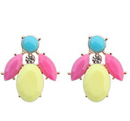 Lovely Sweet Candy Colors Petal Crystal Earrings