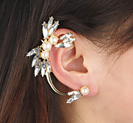 New Arrival Fashional Rhienstone Crystal Pearl Earhook Earring