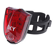 SKY USB Rechargeable 3-LED 3-Mode Red Light Outdoor Cycling Safety Warning Bike Light