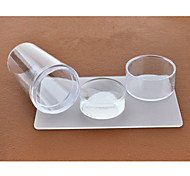 1Set Nail Transparent Lid Seal