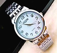 L.WEST Men's Steel Belt Analog Quartz Watch Wrist Watch Cool Watch Unique Watch Fashion Watch