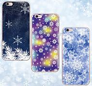 caso suave día de Navidad maycari®beautiful transparente TPU para el iphone 6s 6 / iphone (colores surtidos)