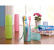 Candy Color Travel Wash Cup Toothbrush ToothpasteTowel Shukoubei Portable Essential Bulk Glass(Rondom Color)