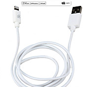 Cable de datos 1 metro hizo IMF rayo de 8 pines de sincronización de datos y cargador USB certificado para iPod / iPhone / iPad (blanco /