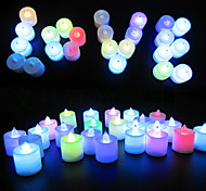 24pcs Colorful Color LED Tea Lights Candle for Easter Christmas Valentines Day Wedding Party