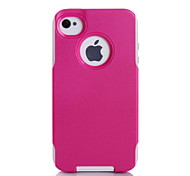 TPU protección súper + PC 2in1 combo shell funda protectora para el iphone 4 / 4s (colores surtidos)