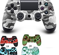 Camouflage Dual Shock Wireless Bluetooth Game Controller + Silicone Protective Case for PS4
