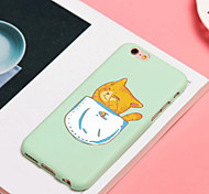 iFashion® Candy Color Pink Cup Lovely Cat And Pocket SLeep Cat Pattern Silica Gel Soft Case for iPhone 6/6s