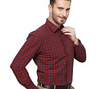 JamesEarl Men's Shirt Collar Long Sleeve Shirt & Blouse Red - MB1XC000201
