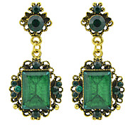 Aulic Style Colored Rhinestone Drop Stone Earrings
