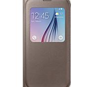 Teléfono Móvil Samsung - Carcasas de Cuerpo Completo/Activación al abrir/Reposo al cerrar - Color Sólido - para Samsung Samsung Galaxy S6