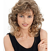 Fashion Curly Blonde Color Waves of High Quality Synthetic Hair Wigs.