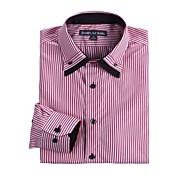 JamesEarl Men's Shirt Collar Long Sleeve Shirt & Blouse Red - DA112046301