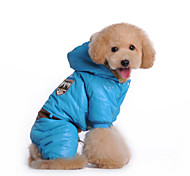 Dog Coat / Clothes/Jumpsuit Multicolored Winter Police/Military Waterproof / Keep Warm / Fashion