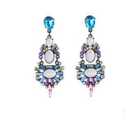 New Arrival Fashional Retro Geometric Gem Earrings