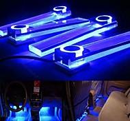 ziqiao 4 en 1 coche 12V de la lámpara de carga baja atmósfera del interior LED luz decoración