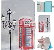 Winter Lights Coloured Drawing or Pattern PU Leather Folio Case Tablet Holster for iPad Mini 4