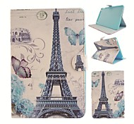 Parigi Torre illustrazione colorata o modello in pelle PU caso folio tablet custodia per ipad mini 4