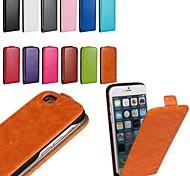 pu cor sólida abrir cima e para baixo estojo de couro de luxo, com protetor de tela para iPhone 6 / 6s