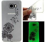 sonho de dente de leão coletor ideal caso TPU padrão sofe luminosa para Samsung Galaxy A510 / A710