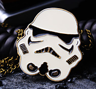 Unisex Round Dial Personality Pattern Retro Fashion Quartz Necklace Watch Pocket Watch