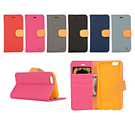 Yi Цай держателя карты кожаный ремень вокруг открыта для iphone 6 плюс / 6с плюс (разные цвета)
