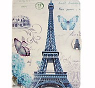 Paris Tower Coloured Drawing or Pattern PU Leather Folio Case Tablet Holster for iPad Air2 iPad Air