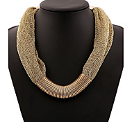 MPL European style fashion all-match metalgauze Necklace