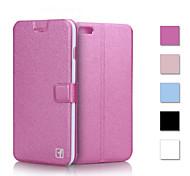 texture de soie de luxe cas PU Housse portefeuille en cuir flip pour iphone 6 plus / 6s et plus (couleurs assorties)