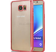 Electroplate TPU Phone Covers/Caese for Samsung Note5(Assorted Colors)
