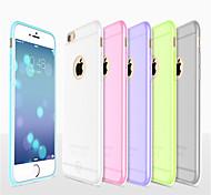 НОСО красочный ультра тонкий бампер матовый торчащий крышку Мягкий силиконовый чехол для iPhone 6 / 6с