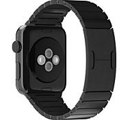 mais quente de aço inoxidável luxo para a faixa de relógio de maçã com duplo botão dobrar série fecho 1 série 2