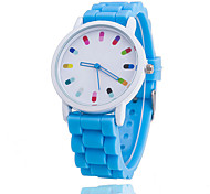 Xu™ Women's Fashion Chromatic Pills Pointer Silicone Quartz Watch Cool Watches Unique Watches Strap Watch