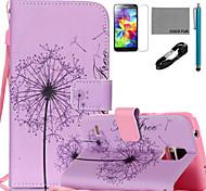 Coco semillas de diente de león Fun® patrón de cuero de la PU de cable caso lápiz flim y soporte para Samsung Galaxy S4 / S4 Mini / S5 /