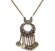 European Fashion Tassel Long Necklace Alloy Pendant Necklaces 1pc