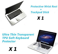 "Ultra Thin TPU Keyboard Cover + Metal Rest Protective Film and Touch Panel Membrane for 13.3""/15.4"" MacBook Pro"